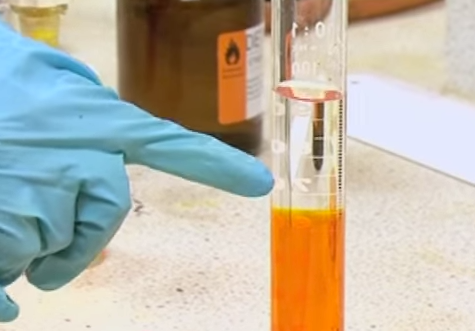 Reacción cromato con peróxido de hidrógeno