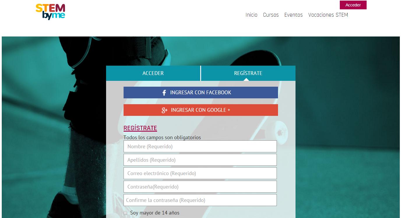 Registro en la plataforma Stembyme