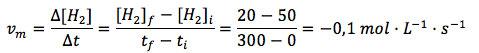 Velocidad media en función del hidrógeno